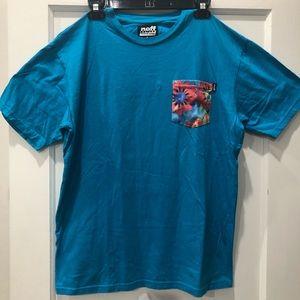Neff Blue Floral Pocket T-shirt
